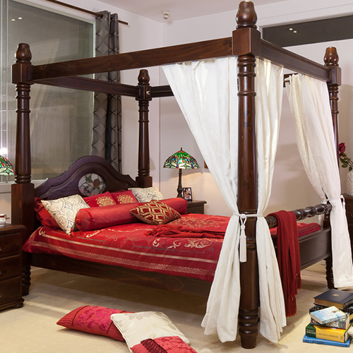 WW005 4 POST QUEEN BEDFRAME | Wood World Furniture