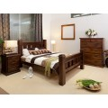 RUSTIC-T6 3 PCE KING SINGLE BEDROOM SUITE | Wood World Furniture