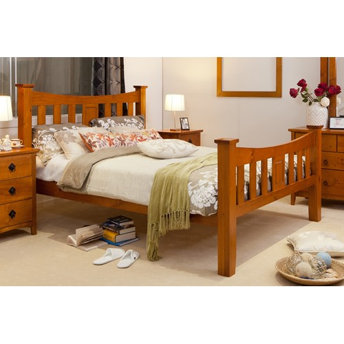 SEATTLE DOUBLE SIZE BEDFRAME | Wood World Furniture