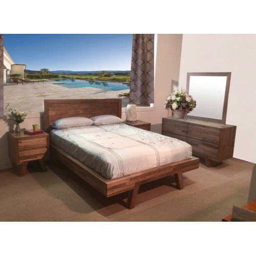 SUSAN V QUEEN HARDWOOD 5 PCE BEDROOM SUITE | Wood World Furniture