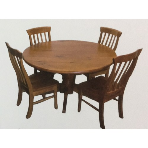 WILLIAM 5PCE ROUND DINING SUITE  | Wood World Furniture