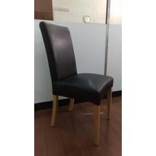 PU leather Stylish Dining Chair Black