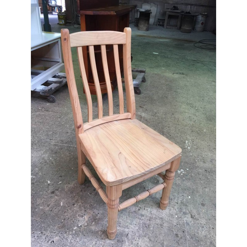 Pine Chair In Raw Wooden Furniture, Unfinished Pine Furniture