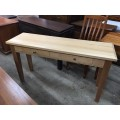TASSIE OAK 1350W  HALL TABLE [SPECIAL] | Wood World Furniture