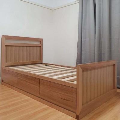 [Custom Made Example] Local made Tassie oak king single bed