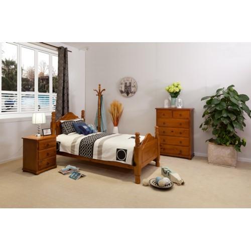 SAMPSON 3PCE SINGLE BEDROOM SUITE | Wood World Furniture