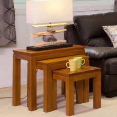 TASSIE OAK  3 PCE NEST TABLE [DISCONTINUED]