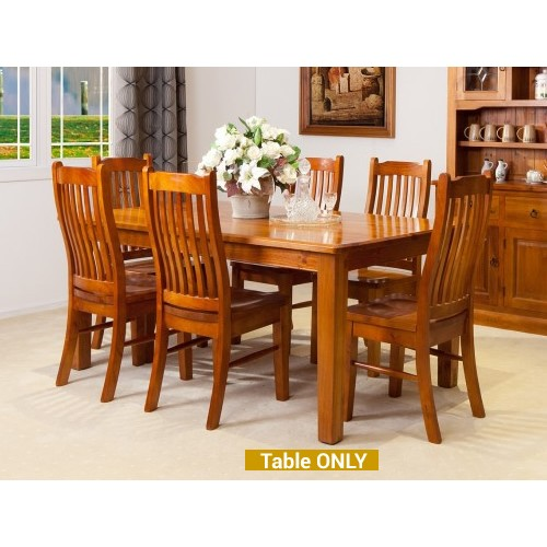 STRAIGHT LEGS DINING TABLE [TALBE ONLY] | Wood World Furniture
