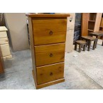 3 Drawer Solid Wood Filing Cabinet