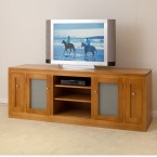 TASSIE OAK  HIGH QUALITY HARDWOOD TV UNIT WTO-TVB