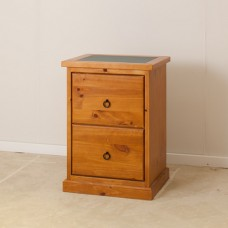 2 Drawer Solid Wood Filing Cabinet [DISCONTINUED]