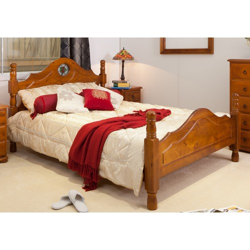 ROSE PROVINCIAL DOUBLE BED ONLY [DISCONTINUED]   Wood World Furniture