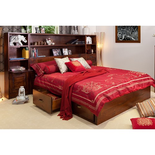 LIBRARY LUXURIOUS QUEEN BED | Wood World Furniture