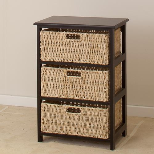BLACK OR WHITE BASKET  3 DRAWERS | Wood World Furniture