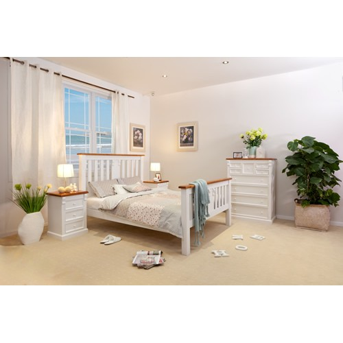 JANE-T 4PCE KING BEDROOM SUITE White Furniture