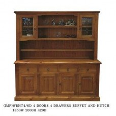 WBHT4/6 BUFFET AND HUTCH