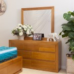 CLAREMONT TASSIE OAK DRESSER with MIRROR