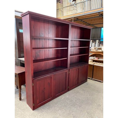 [CUSTOM MADE EXAMPLE] LOCAL MADE PINE OAK BOOKCASE 207