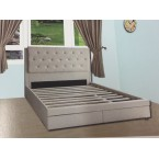 FABRIC QUEEN SIZE BEDFRAME (LIMITED STOCK)