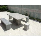 GRANITE STONE SQUARE TABLE 5 PIECE OUTDOOR SETTING