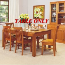 JOE HIGH QUALITY TASSIE OAK DINING TABLE ONLY