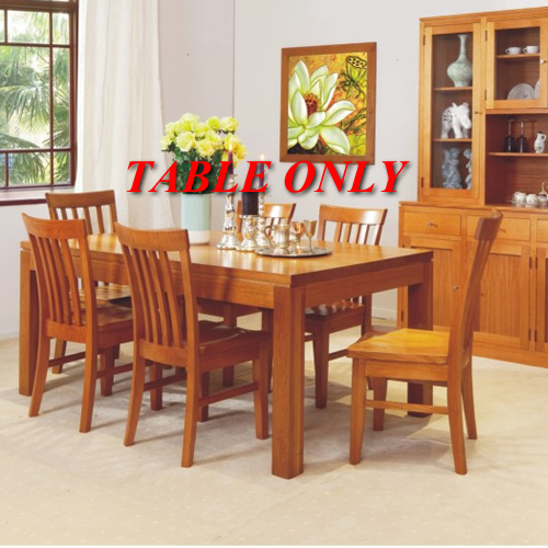 HIGH QUALITY TASSIE OAK JOE DINING TABLE ONLY | Wood World Furniture