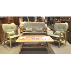 AMERICAN OAK ARMCHAIR KARL 3 PCE SET