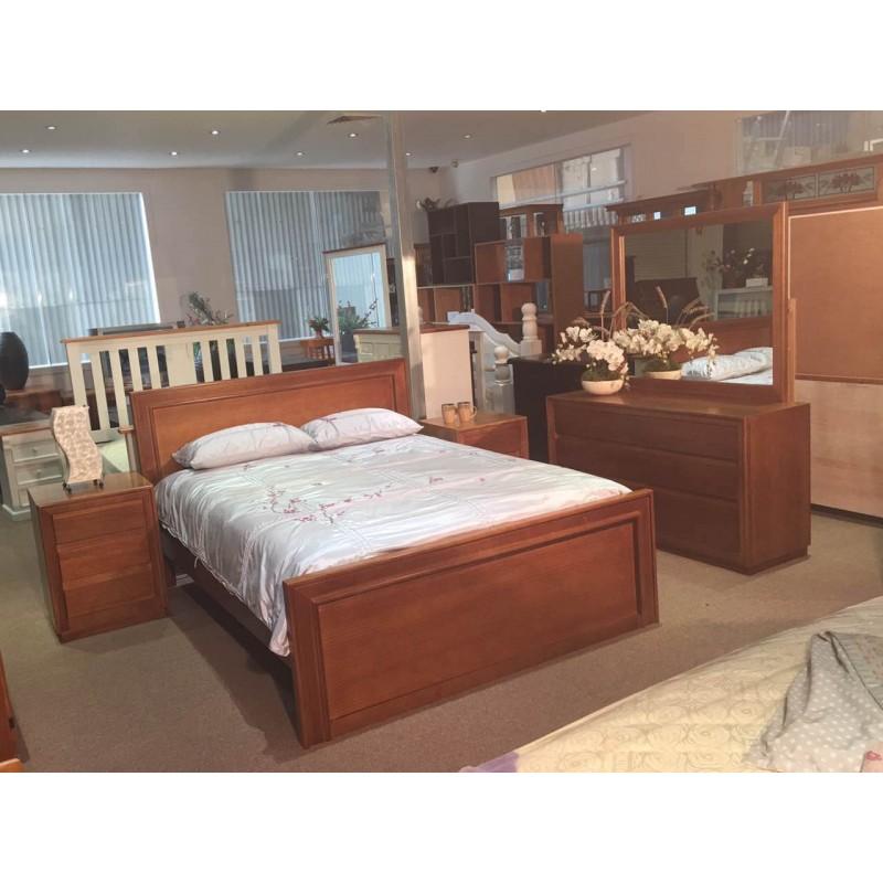 Mosman 5pcs Tassie Oak Queen Bedroom Suite Wooden Furniture Sydney Timber Tables Bedroom Furniture Wooden Furniture Buy Furniture Timber Wood Furniture Wood World Furniture