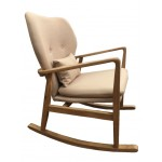 AMERICAN OAK ARMCHAIR ROCKING CHAIR