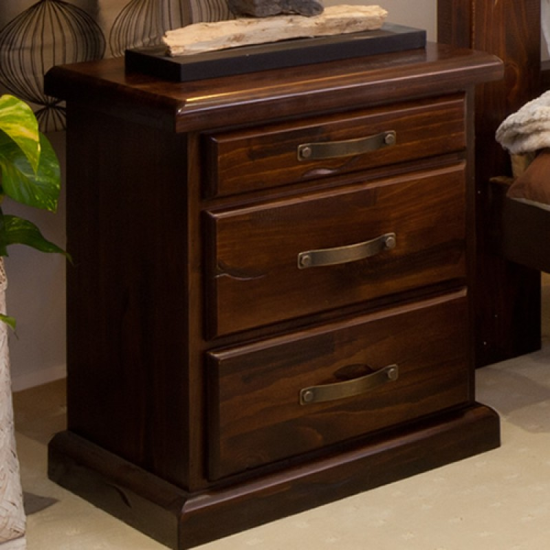 Very RUSTIC BEDSIDE TABLE Wooden Furniture Sydney . Timber Tables  JV39