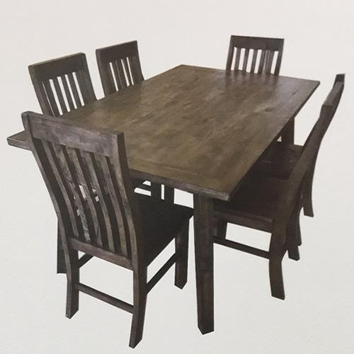 SUSAN V 7PCE HARDWOOD DINNING SUITE | Wood World Furniture