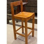 Wholemeal Bar Stool with Back Support