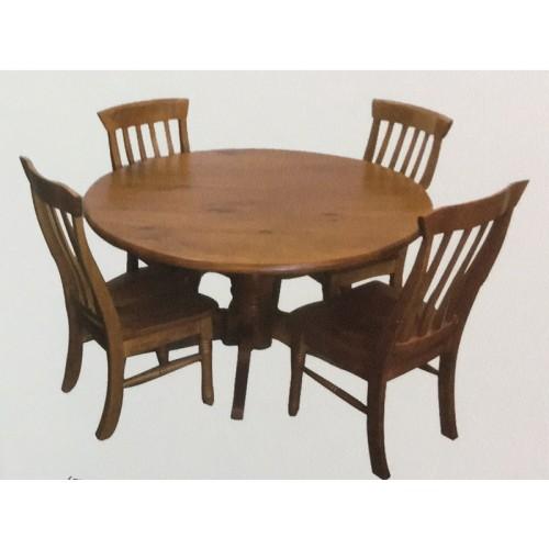 WILLIAM 7PCE ROUND DINING SUITE  | Wood World Furniture